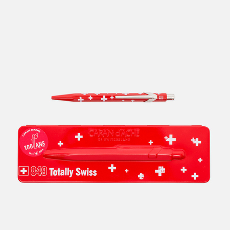 Caran d'Ache 849 Totally Swiss Pen Red/White