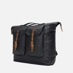 Ally Capellino Frank Waxy Backpack Black/Brown photo- 1