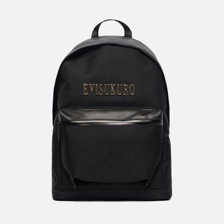 Рюкзак Evisu Evisukuro Faux Leather Trimmed Canvas Black