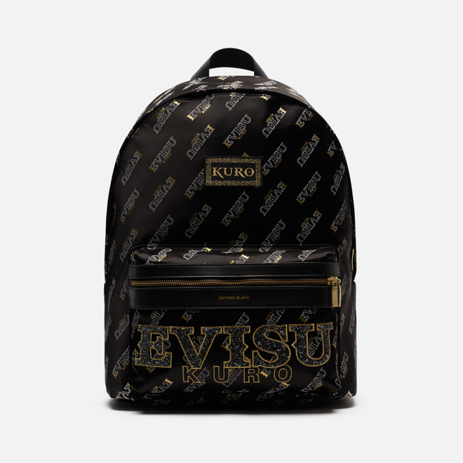 Рюкзак Evisu Evisukuro Fine Rocks Monogram All Over Printed Black