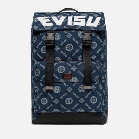Рюкзак Evisu Heritage Jacquard Denim Indigo