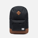 Рюкзак Herschel Supply Co. Heritage 21.5L Black/Tan Synthetic Leather фото- 0