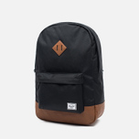 Рюкзак Herschel Supply Co. Heritage 21.5L Black/Tan Synthetic Leather фото- 1