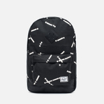 Рюкзак Herschel Supply Co. Heritage Mid Volume Black Code/Black фото- 0