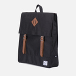 Herschel Supply Co. Survey Backpack Black/Tan PU photo- 1