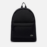 Рюкзак Lacoste Neocroc Canvas Zip Pocket Black фото- 1