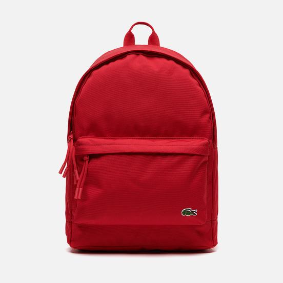 Рюкзак Lacoste Neocroc Canvas Zip Pocket Tango Red