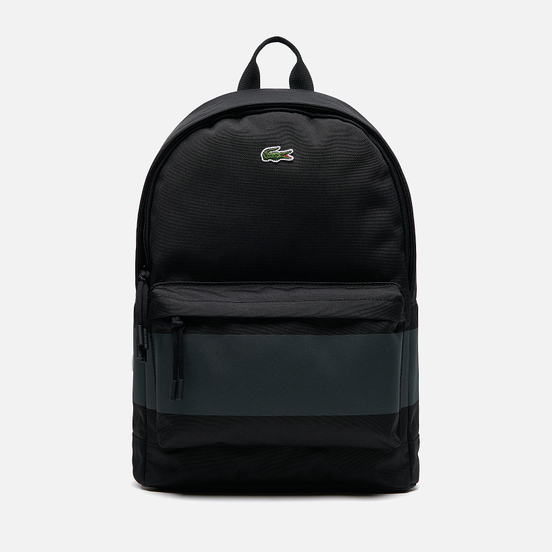 Рюкзак Lacoste Reflective Canvas Zippered Black