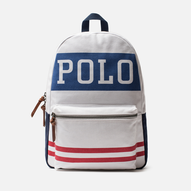 Рюкзак Polo Ralph Lauren Char Patch Cotton Canvas White