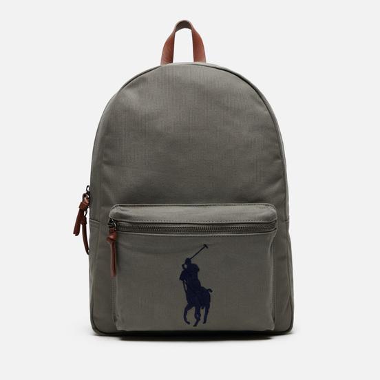 Рюкзак Polo Ralph Lauren Cotton Canvas Polo Pony College Grey