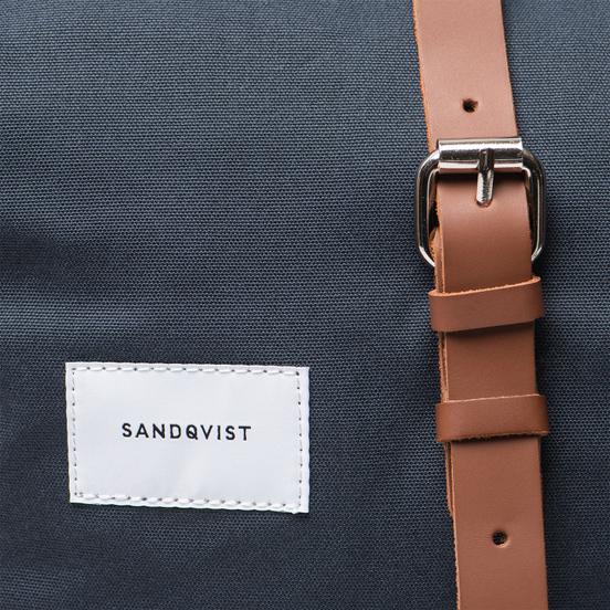 Рюкзак Sandqvist Dante Navy/Cognac Brown Leather