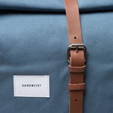 Рюкзак Sandqvist Dante Dusty Blue/Cognac Brown Leather фото- 4