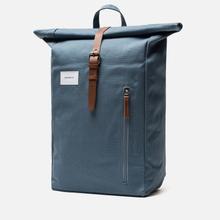 Рюкзак Sandqvist Dante Dusty Blue/Cognac Brown Leather фото- 1