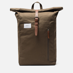 Рюкзак Sandqvist Dante Olive/Cognac Brown Leather