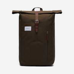Рюкзак Sandqvist Dante 18L Olive/Cognac Brown Leather