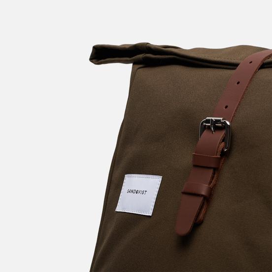 Рюкзак Sandqvist Dante Olive/Cognac Brown Leather