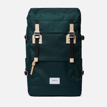 Рюкзак Sandqvist Harald 21L Dark Green/Natural Leather