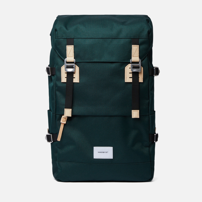 Рюкзак Sandqvist Harald 21L Dark Green/Natural Leather