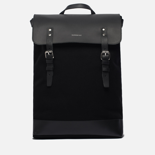 Рюкзак Sandqvist Hege 18L Black/Black Leather