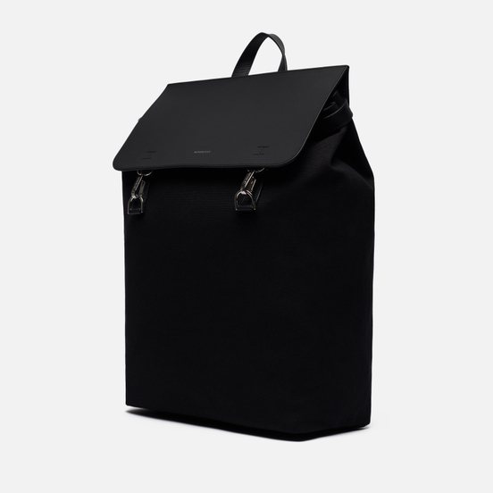 Рюкзак Sandqvist Hege Metal Hook 18L Black/Black Leather