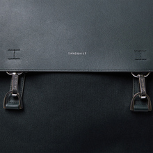 Рюкзак Sandqvist Hege Metal Hook 18L Black/Black Leather фото- 3