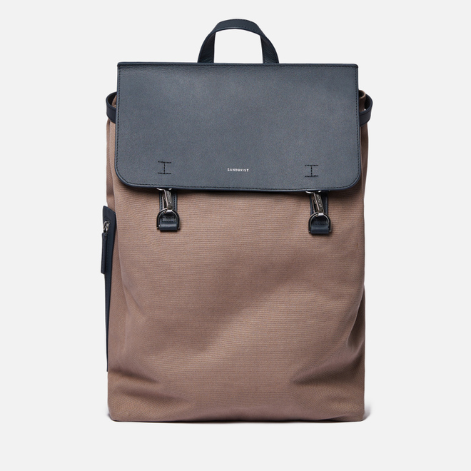 Рюкзак Sandqvist Hege Metal Hook 18L Earth Brown/Navy Leather