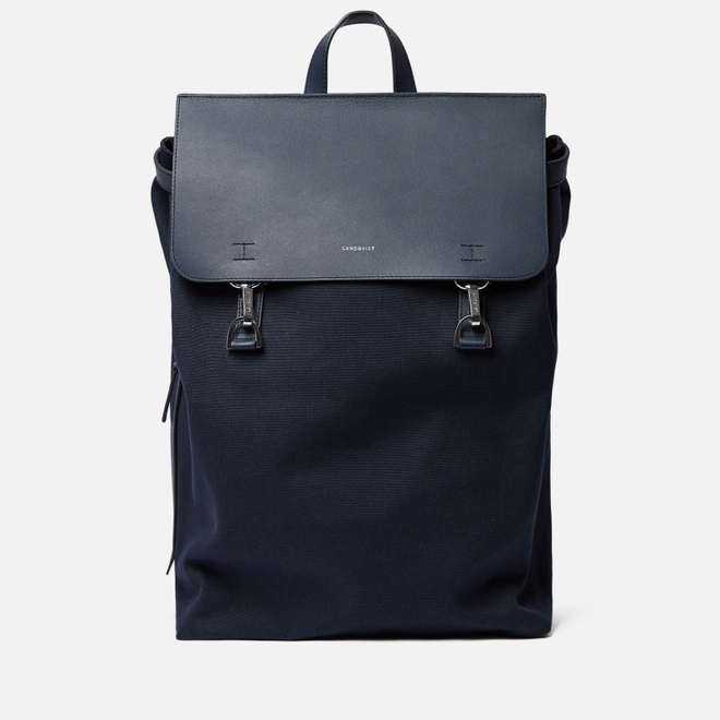 Рюкзак Sandqvist Hege Metal Hook 18L Navy/Navy Leather