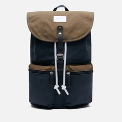 Рюкзак Sandqvist Roald 17L Multi Navy/Olive/Black Leather