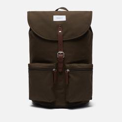 Рюкзак Sandqvist Roald 17L Olive/Cognac Brown Leather