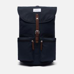 Рюкзак Sandqvist Roald 17L Navy/Cognac Brown Leather