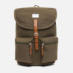 Рюкзак Sandqvist Roald 17L Olive/Cognac Brown Leather