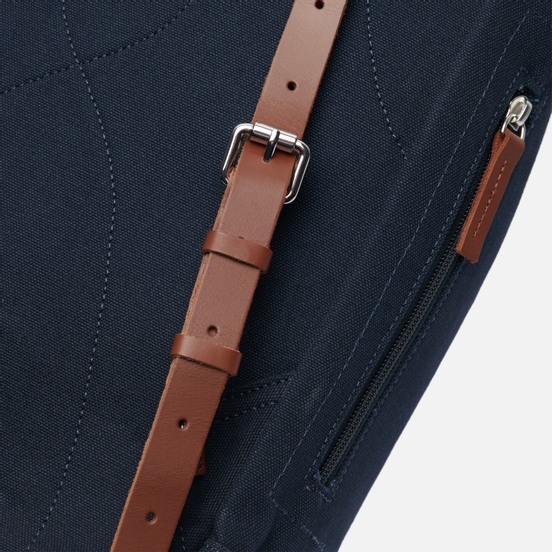 Рюкзак Sandqvist Stig Large 20L Navy/Cognac Brown Leather