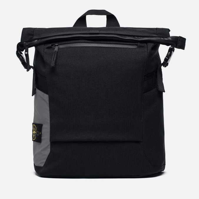 Рюкзак Stone Island Nylon Reflective Logo Badge Black/Grey