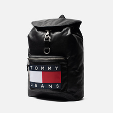 Рюкзак Tommy Jeans Heritage Leather Large Flag Black фото- 1