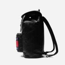 Рюкзак Tommy Jeans Heritage Leather Large Flag Black фото- 2