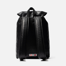 Рюкзак Tommy Jeans Heritage Leather Large Flag Black фото- 3