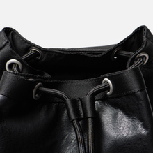 Рюкзак Tommy Jeans Heritage Leather Large Flag Black фото- 7