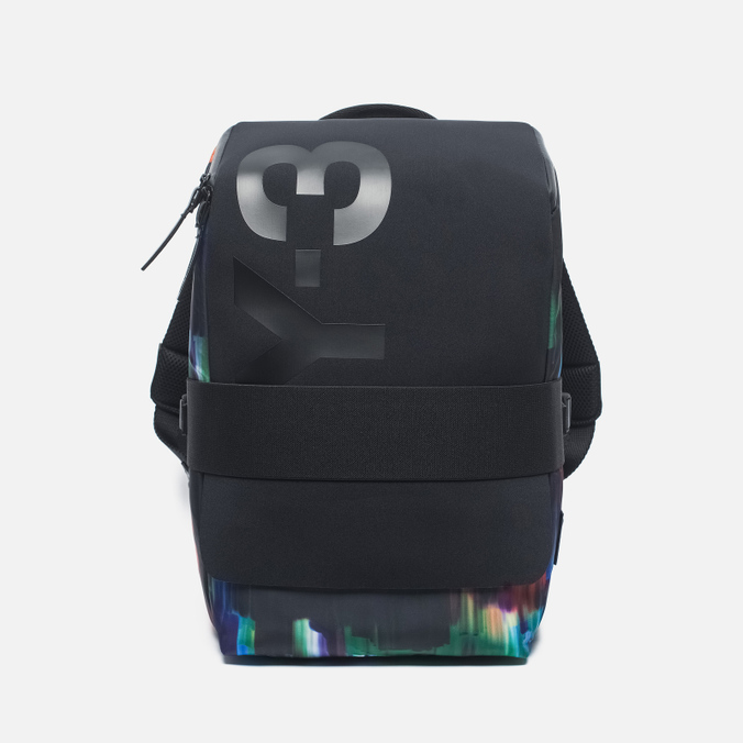 Y-3 Qasa Small Print Detritus Backpack Black