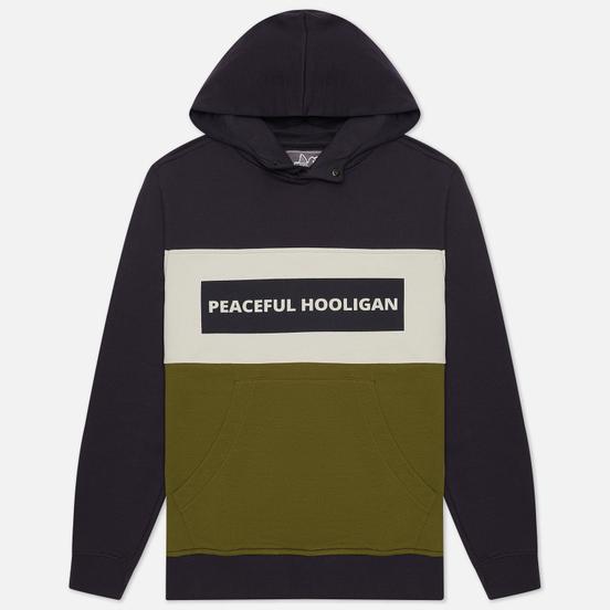 Мужская толстовка Peaceful Hooligan Mono Block Hoodie Navy