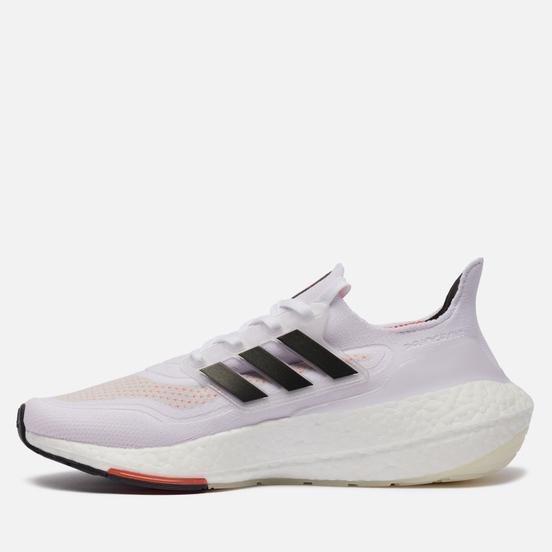 Мужские кроссовки adidas Performance Ultra Boost 21 White/Core Black/Solar Red