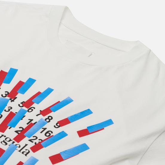 Мужская футболка Maison Margiela Tape Print Off White