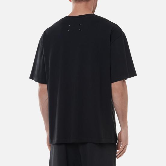 Мужская футболка Maison Margiela Tape Print Washed Black