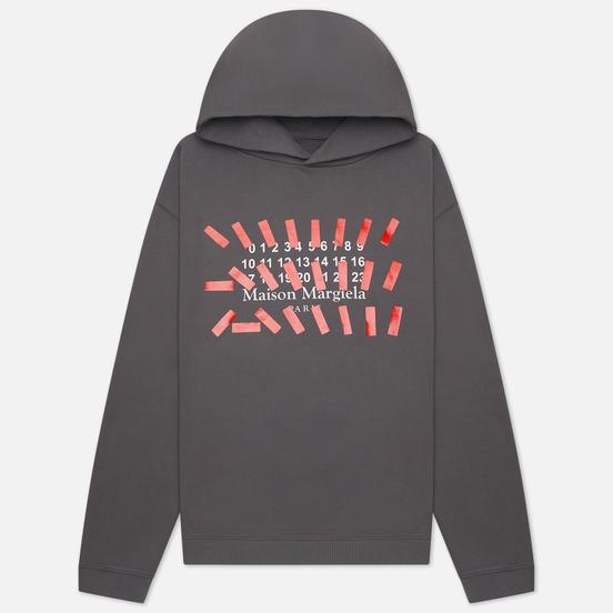 Мужская толстовка Maison Margiela Tape Print Oversized Hoodie Storm