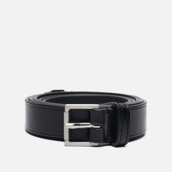 Ремень Maison Margiela Basic Logo Leather Black