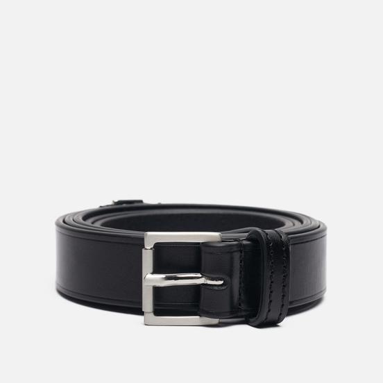 Ремень Maison Margiela Basic Logo Leather Black