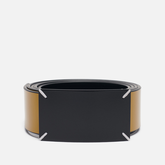 Ремень Maison Margiela Four Stitch Buckle Leather Black/Wood Thrush