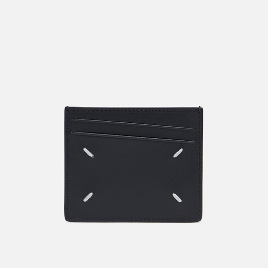 Держатель для карточек Maison Margiela Four Stitch Polished Leather Black
