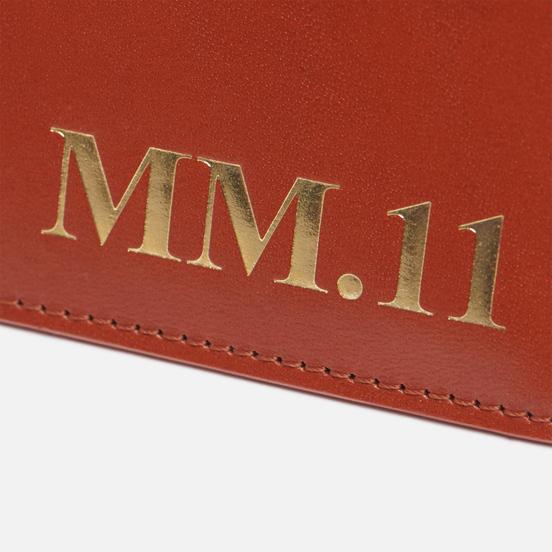 Держатель для карточек Maison Margiela Four Stitch Shiny Leather Brown