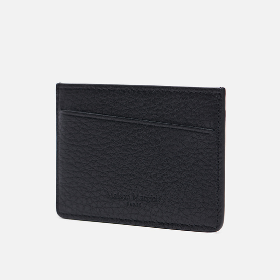 Держатель для карточек Maison Margiela Four Stitch Grain Leather Black/Black