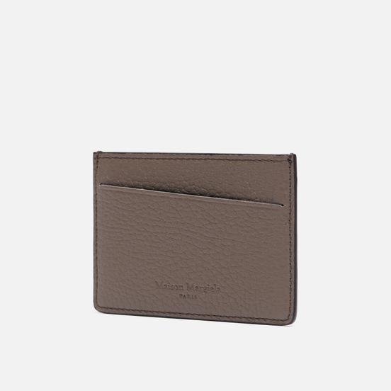 Держатель для карточек Maison Margiela Four Stitch Grain Leather Taupe Gray